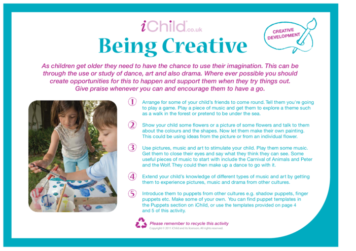 Thumbnail image for the Being Creative activity.