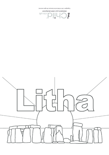 Thumbnail image for the Litha Card activity.