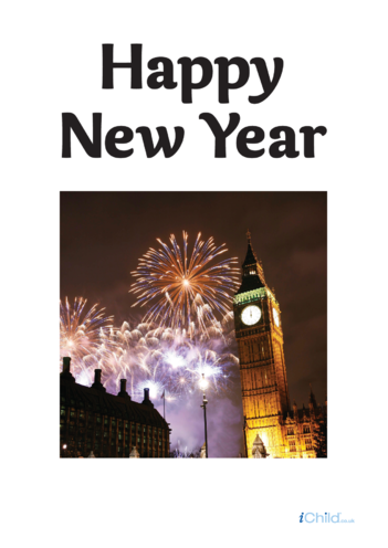Thumbnail image for the Happy New Year Photo Poster activity.