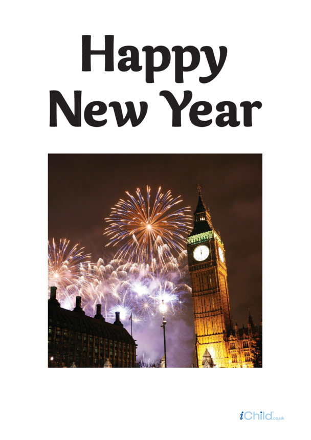 Happy New Year Photo Poster