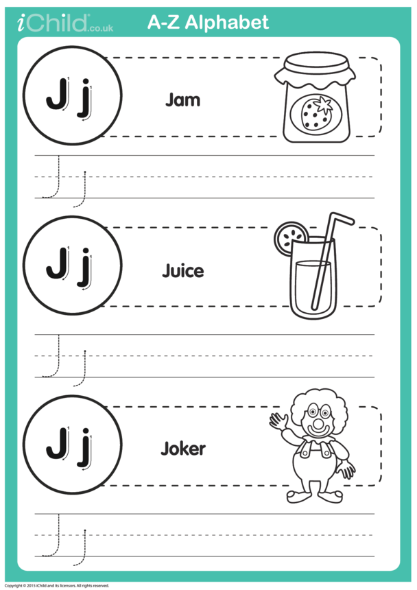 J: Write the Letter J