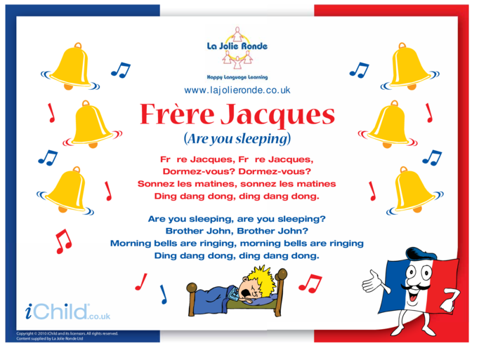 Thumbnail image for the Frère Jacques Song in French activity.