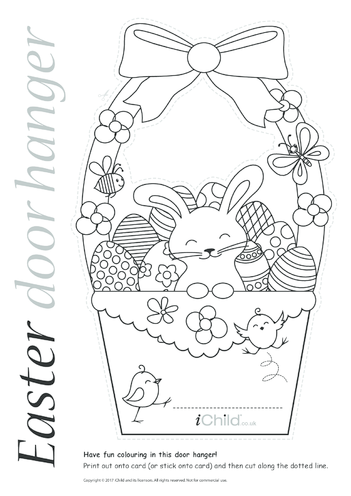 Thumbnail image for the Easter Door Hanger activity.