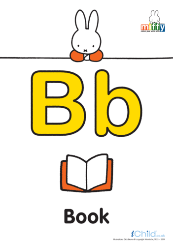 Thumbnail image for the B: Miffy's Letter Bb (less ink) activity.