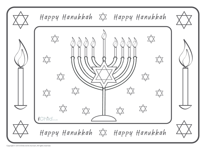 Thumbnail image for the Hanukkah Place Mats activity.