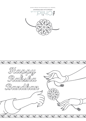 Thumbnail image for the Happy Raksha Bandhan Greeting Card activity.