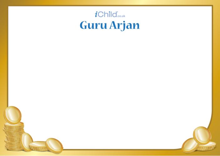 Thumbnail image for the Guru Arjan Blank Drawing Template activity.