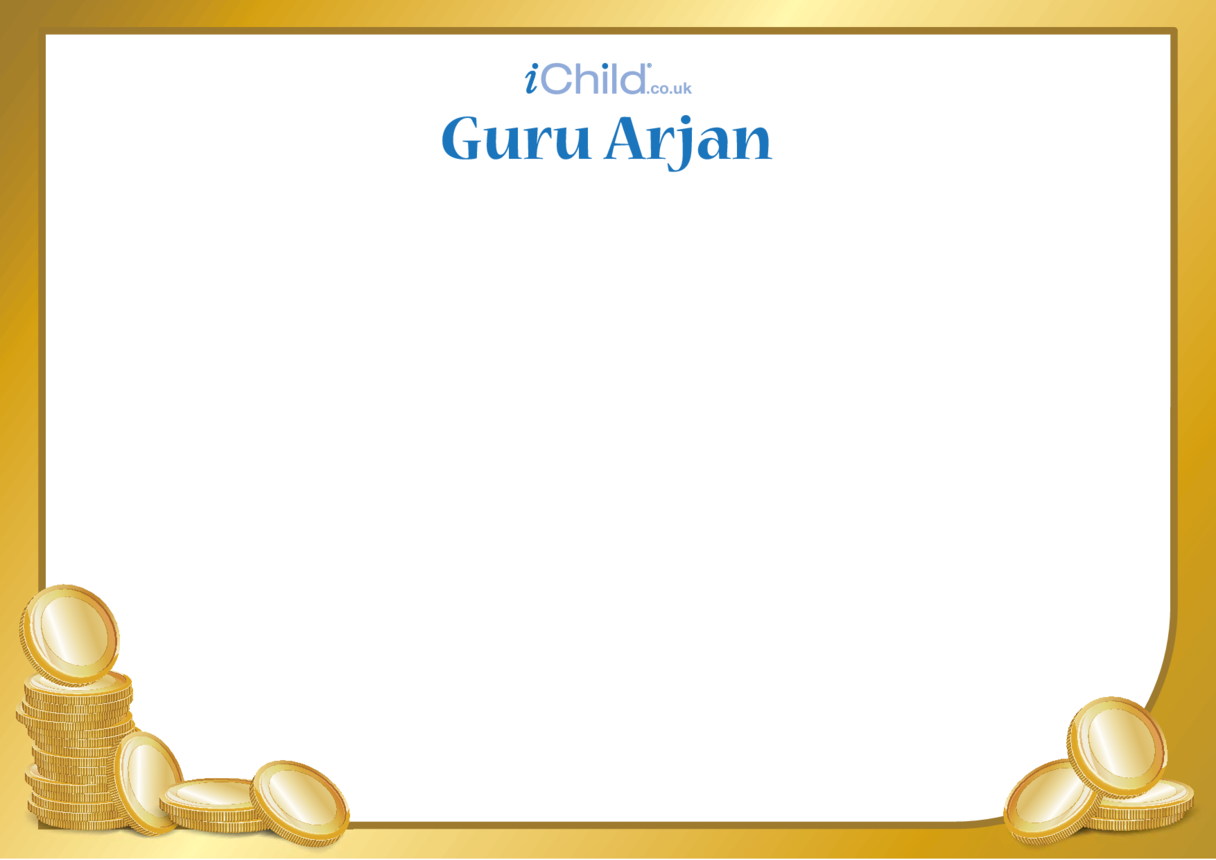 Guru Arjan Blank Drawing Template