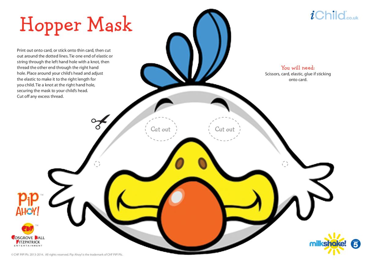 Hopper Face Mask (Pip Ahoy!)