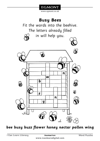 Thumbnail image for the Busy Bees activity.