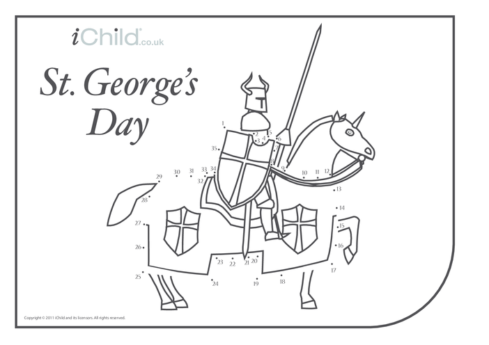 Thumbnail image for the St. George's Day Dot to Dot activity.