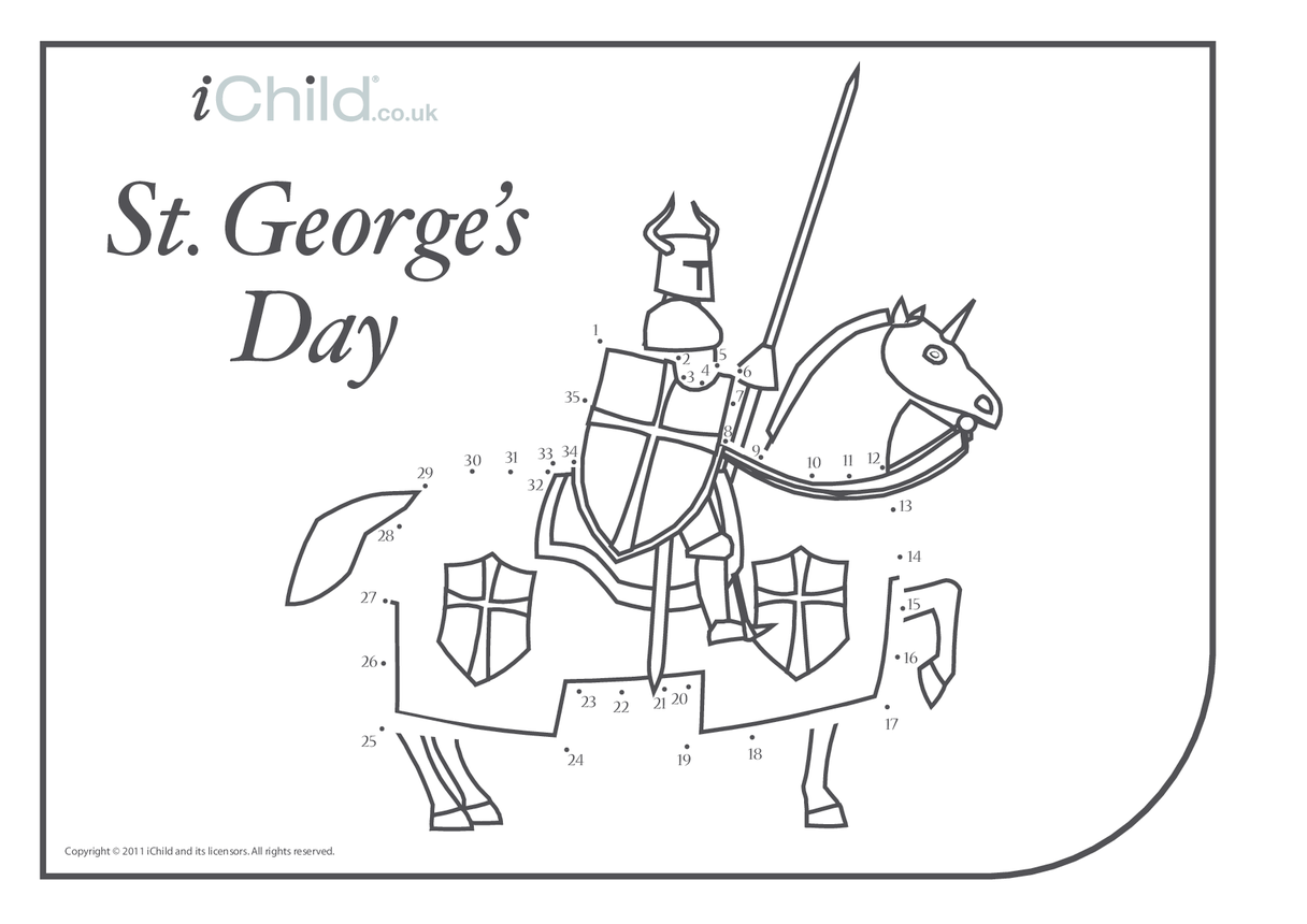St. George's Day Dot to Dot