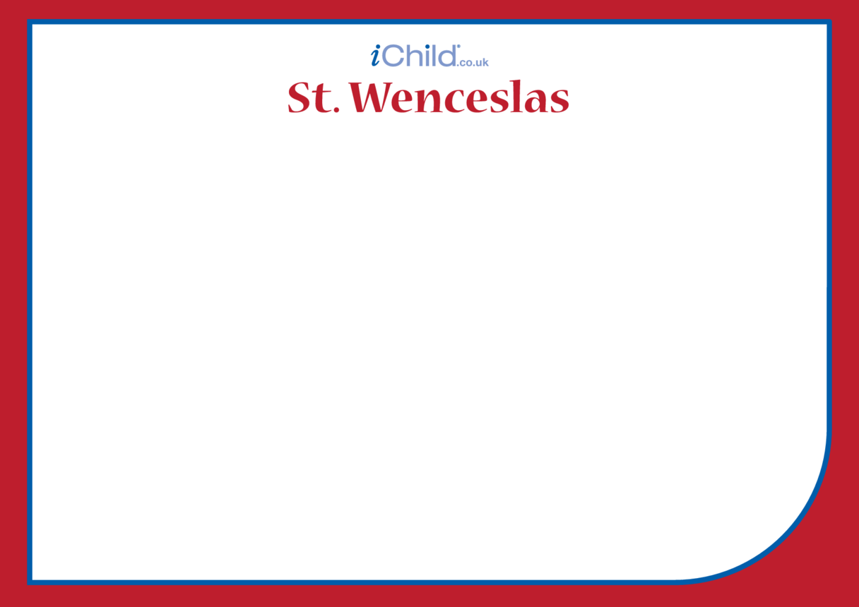 St. Wenceslas Blank Drawing Template