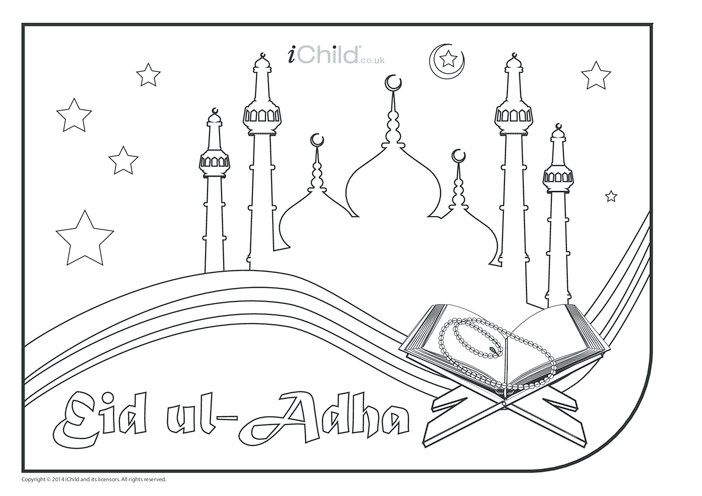 Thumbnail image for the Eid ul-Adha Colouring in Picture activity.