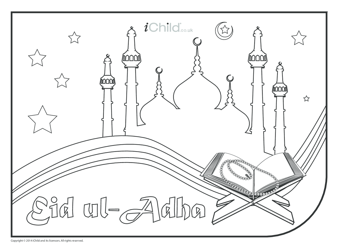 Eid ul-Adha Colouring in Picture