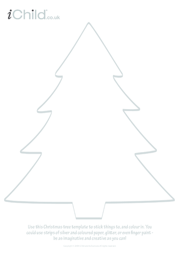 Thumbnail image for the Christmas Tree Template activity.