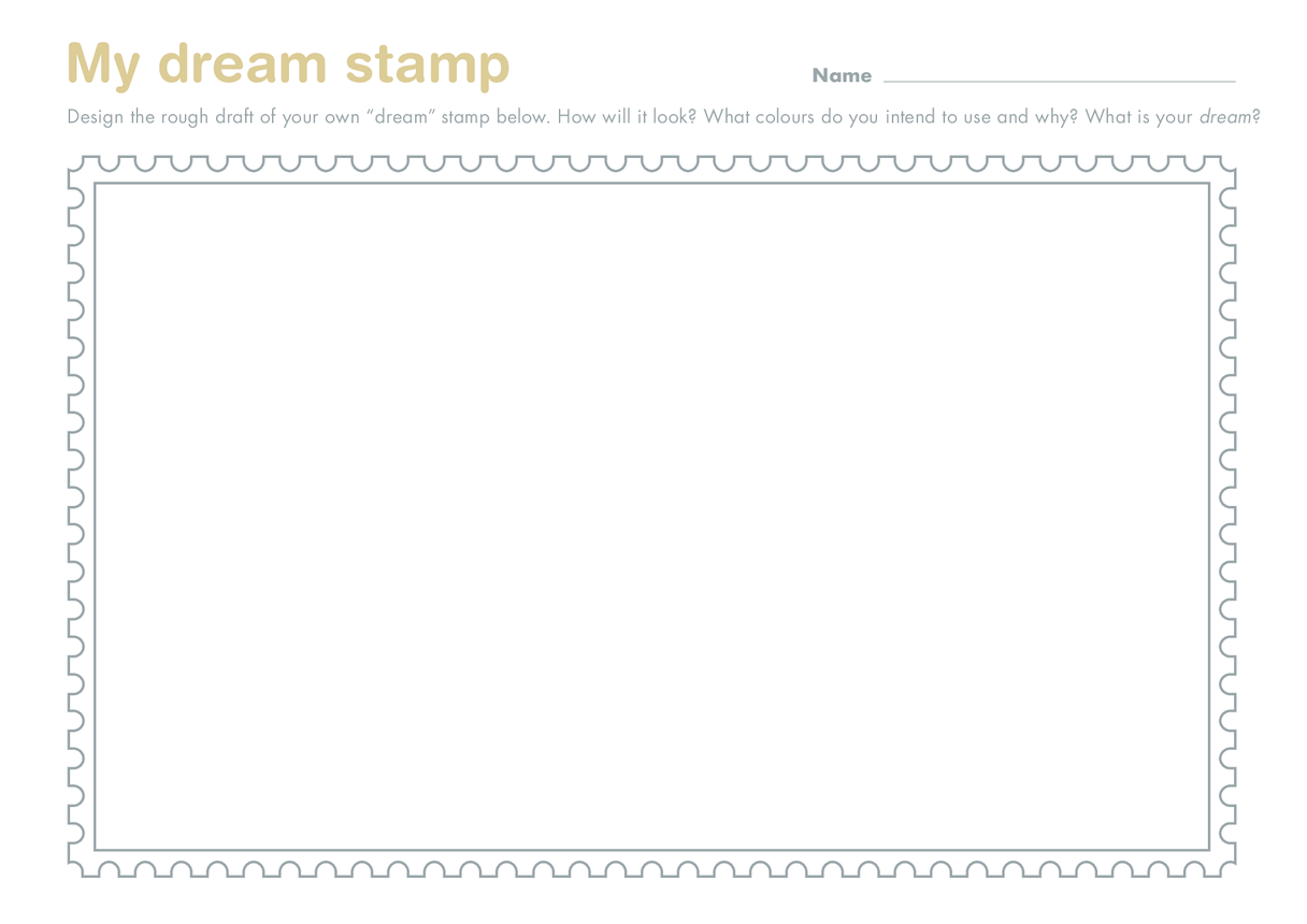 Secondary 3) Stamping My Mark- My Dream Stamp Drawing Template