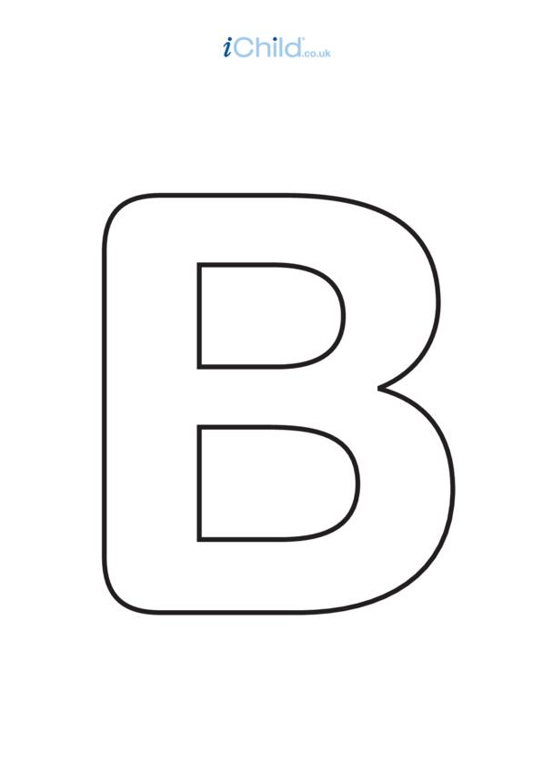 B: Poster of the Letter 'B', black & white
