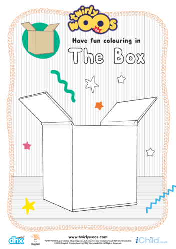 Thumbnail image for the The Box Colouring in Picture activity.