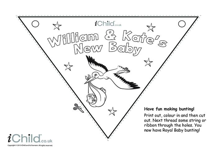 Thumbnail image for the Royal Baby Bunting Craft activity.