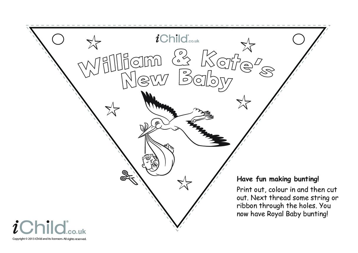 Royal Baby Bunting Craft