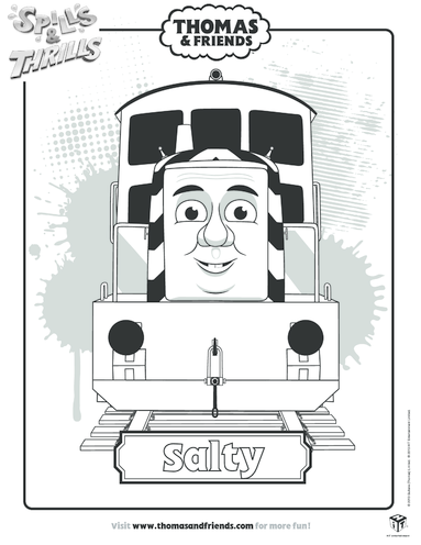 Thumbnail image for the Salty Colouring in Picture (Thomas & Friends) activity.