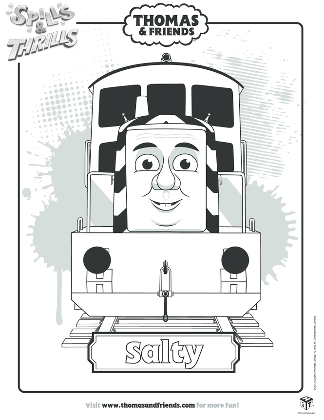 Salty Colouring in Picture (Thomas & Friends)