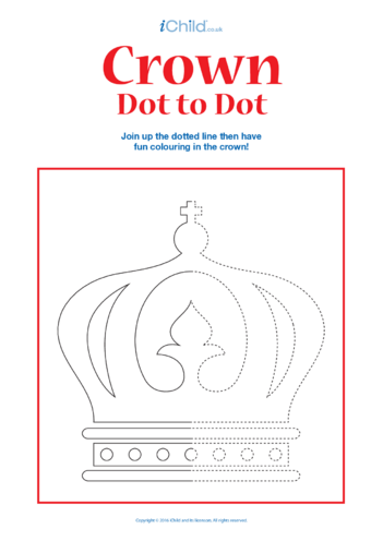 Thumbnail image for the Crown Dot to Dot activity.