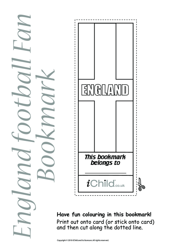 England Flag Bookmark
