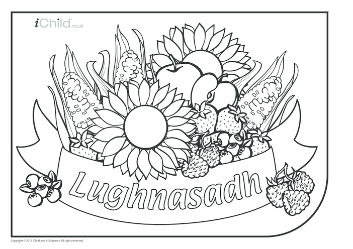 Thumbnail image for the Lughnasadh Colouring in Picture activity.