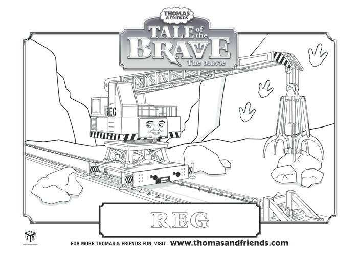Thumbnail image for the Tale  of the Brave, Reg Colouring in Picture (Thomas & Friends) activity.