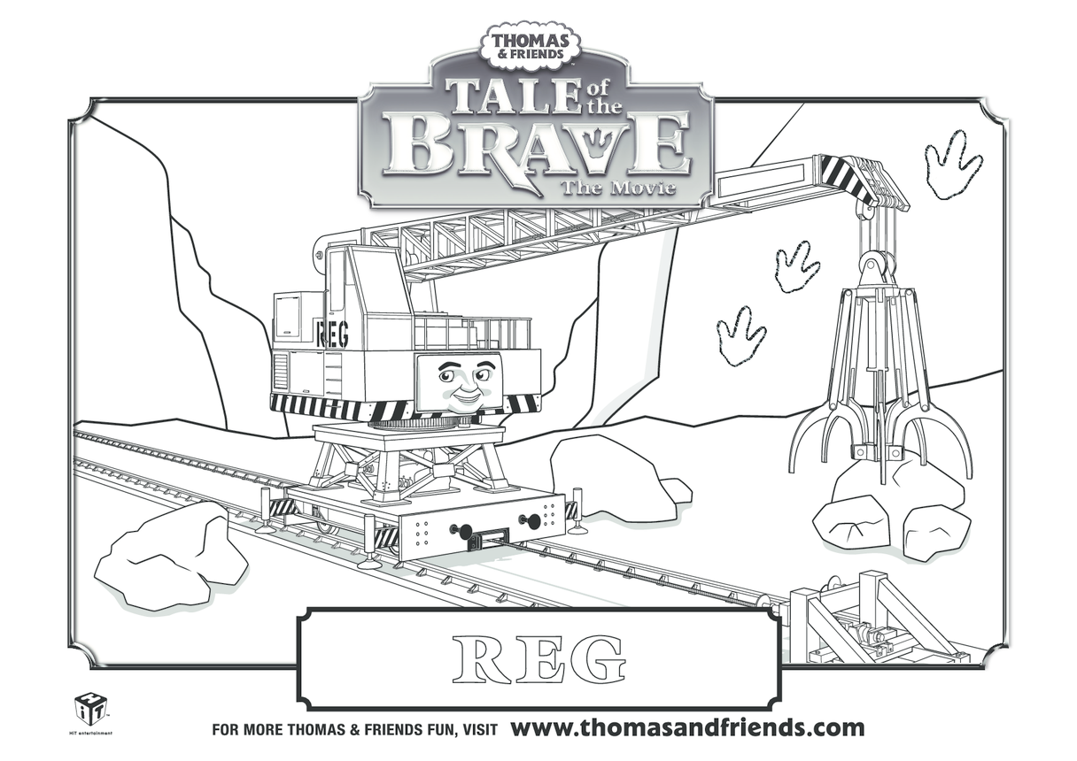 Tale  of the Brave, Reg Colouring in Picture (Thomas & Friends)