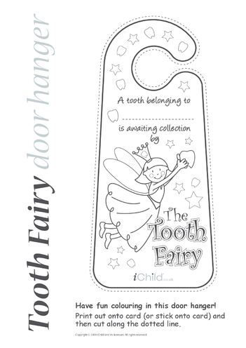 Thumbnail image for the Tooth Fairy Door Hanger activity.