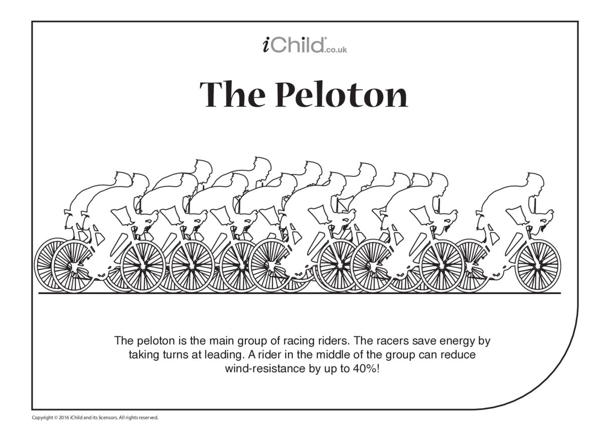 Peloton Colouring in Picture