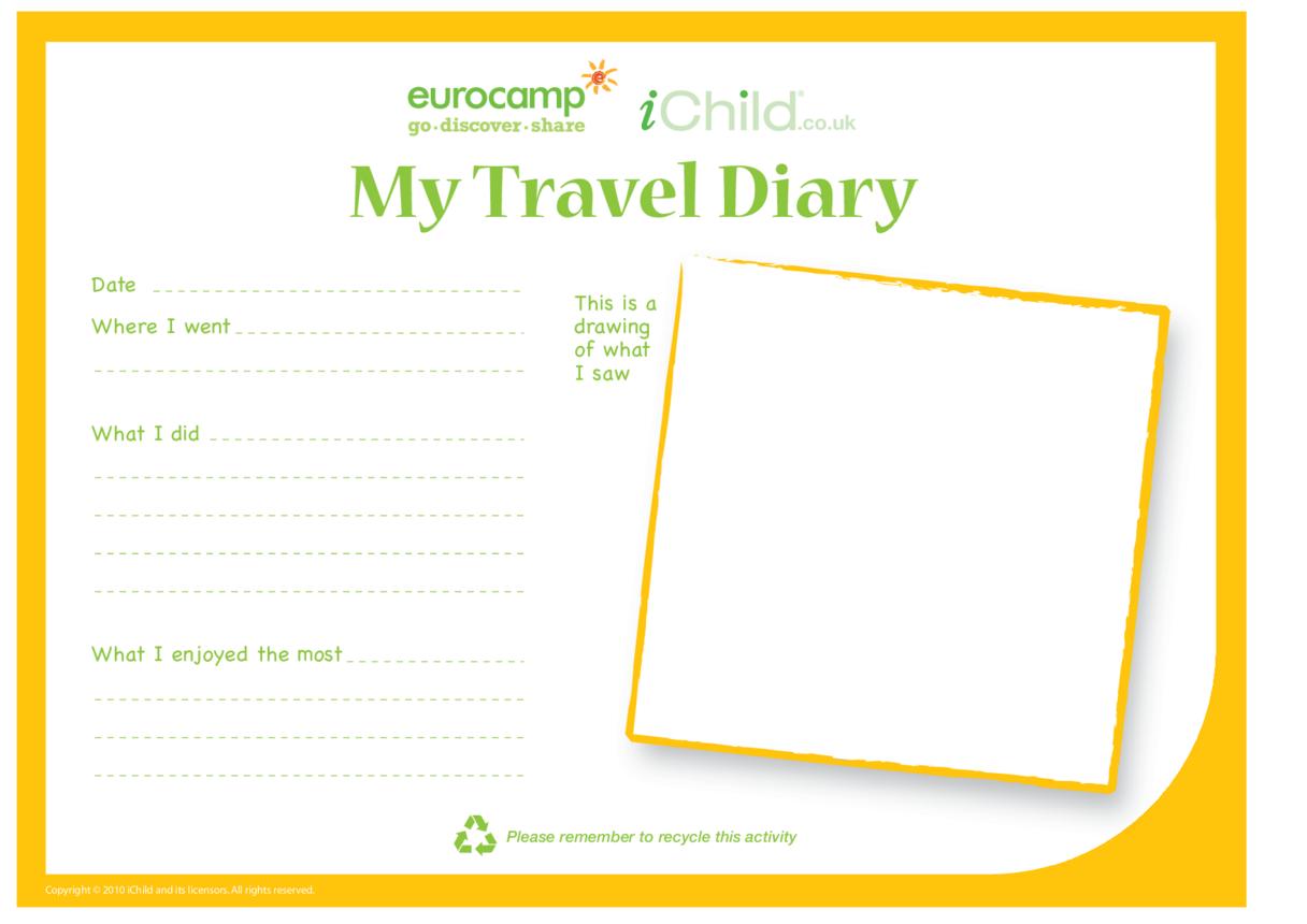 Write a Travel Diary