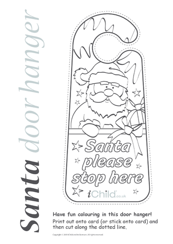 Thumbnail image for the Christmas Door Hanger activity.