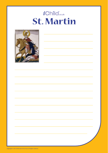Thumbnail image for the St. Martin Lined Writing Paper activity.