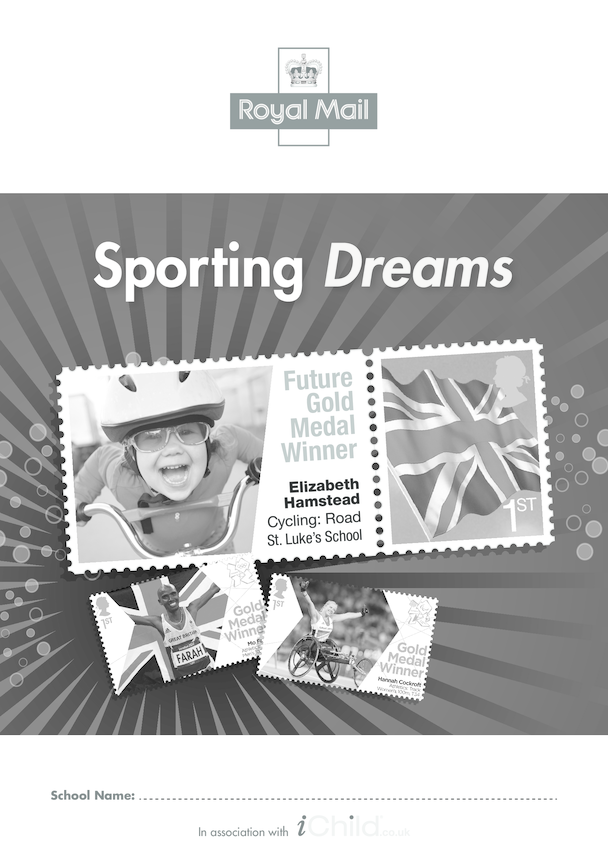 Royal Mail Sporting Dreams School Poster in Black & White