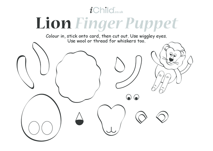 Thumbnail image for the Lion Finger Puppet activity.
