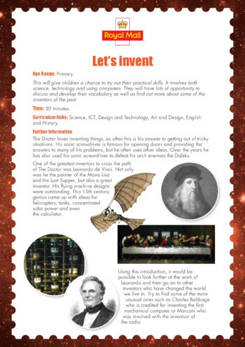 Thumbnail image for the Primary 3) Let's Invent Lesson Plan activity.