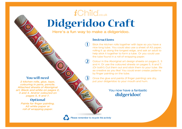 Thumbnail image for the Didgeridoo Craft activity.