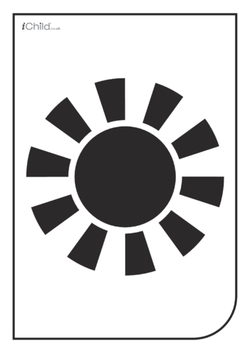 Thumbnail image for the White & Black Poster: The Sun activity.