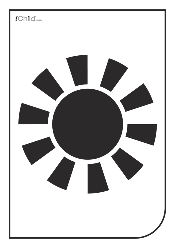 White & Black Poster: The Sun