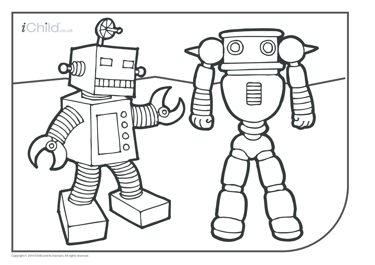 Robots Colouring in picture