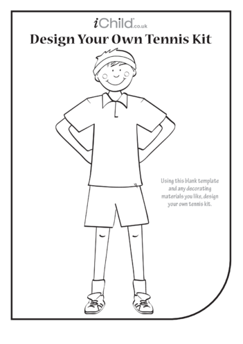 Thumbnail image for the Design your own Tennis Kit- Boy activity.