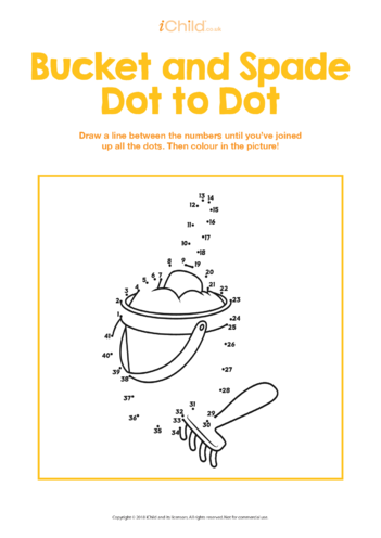 Thumbnail image for the Bucket & Spade Dot to Dot activity.