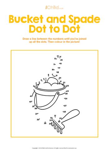 Thumbnail image for the Bucket & Spade Dot to Dot activity.