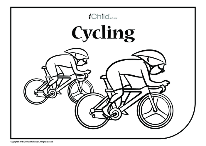 Thumbnail image for the Cycle Race Colouring in Picture activity.
