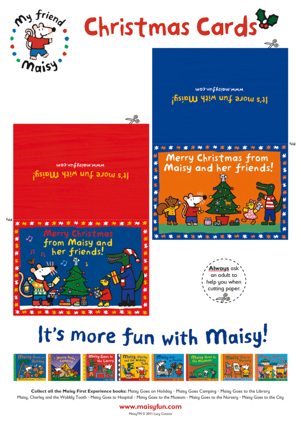 Maisy Christmas Cards (Blue & Red)