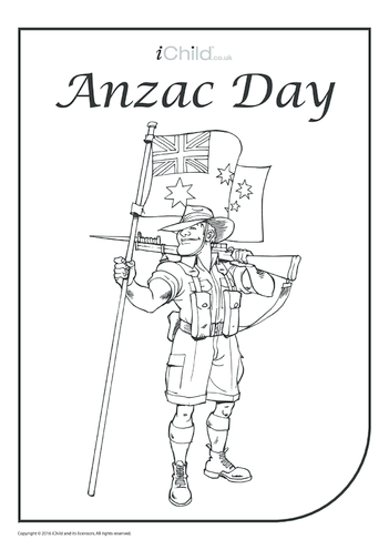Thumbnail image for the Anzac Day Colouring in Picture activity.